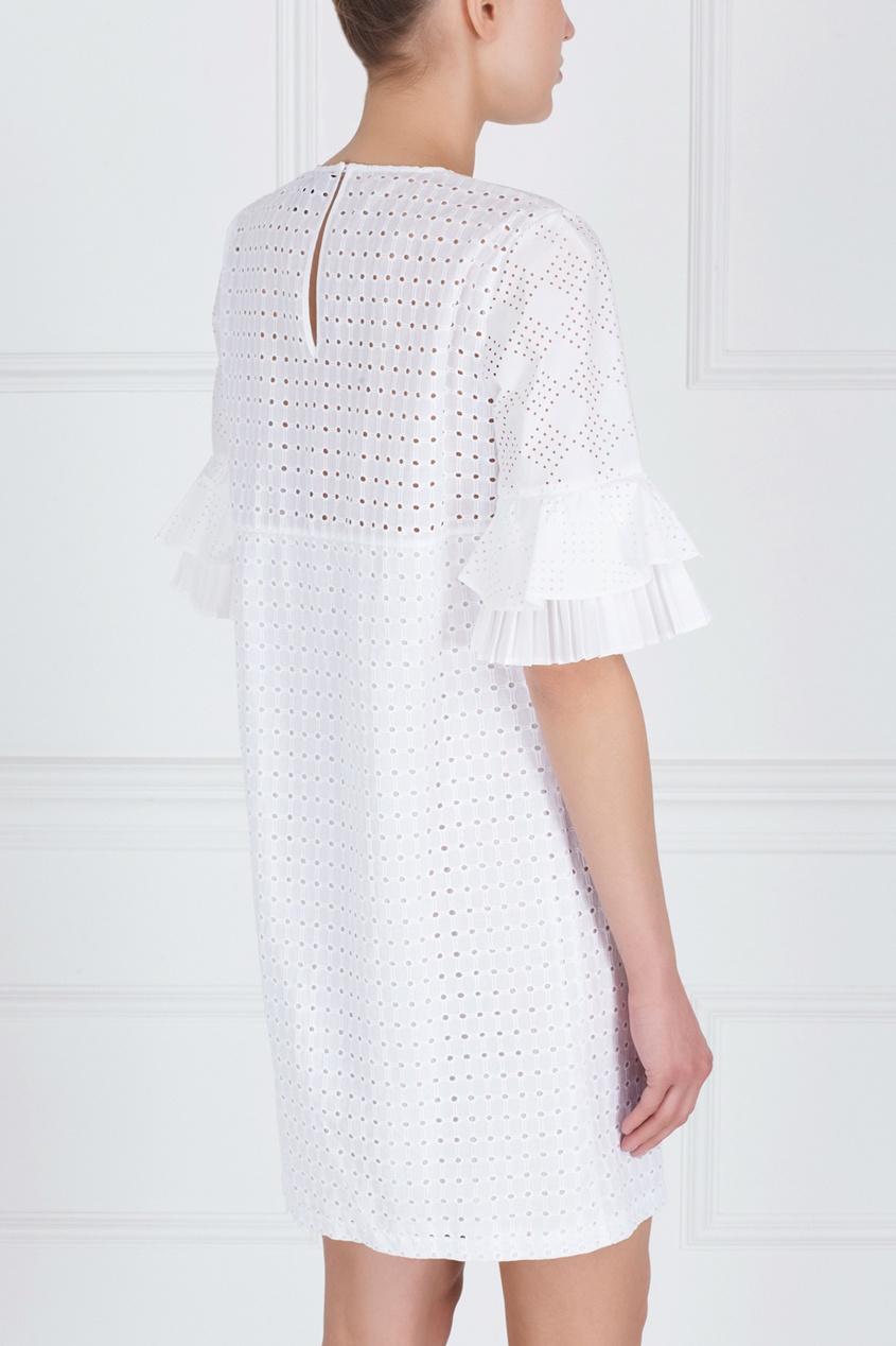 Фото 5 - Хлопковое платье от Just Cavalli белого цвета