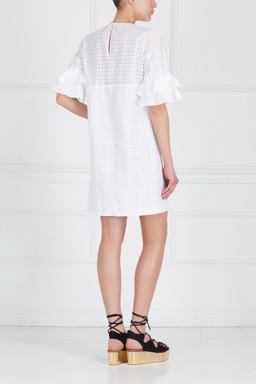 Фото 6 - Хлопковое платье от Just Cavalli белого цвета