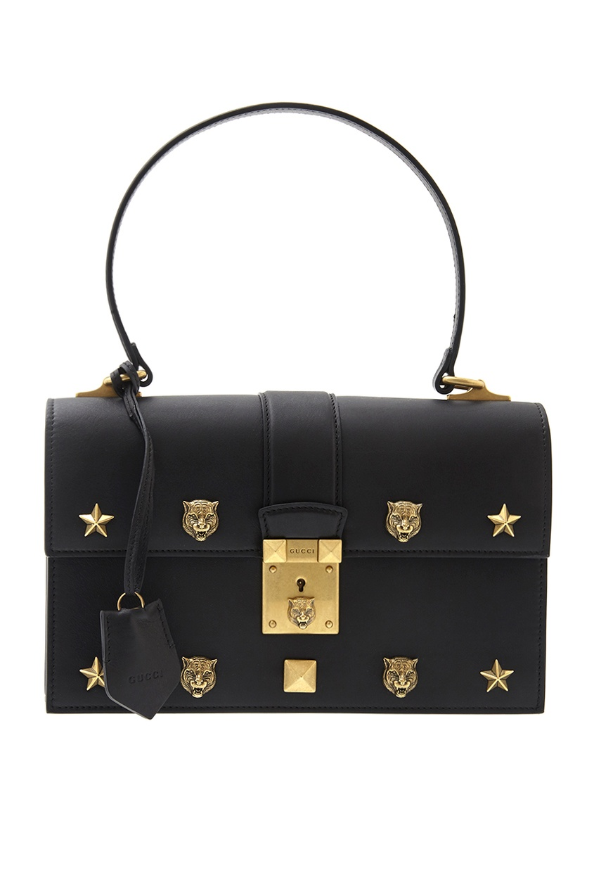 Gucci Кожаная сумка Cat Lock gucci сумка