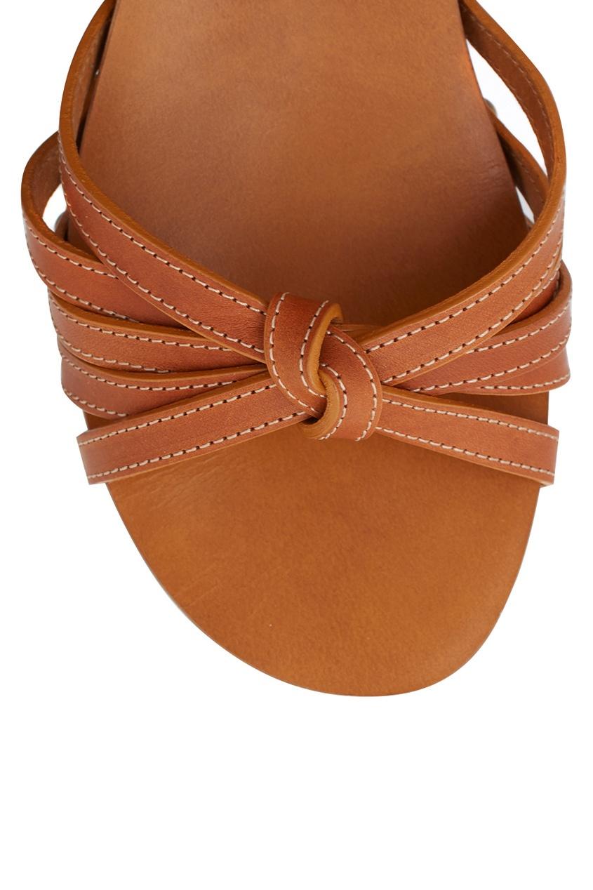 Кожаные сандалии на платформе от AIZEL