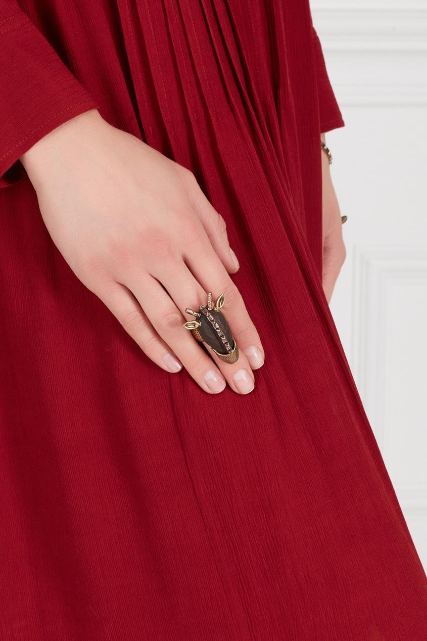 Кольцо из латуни и дерева