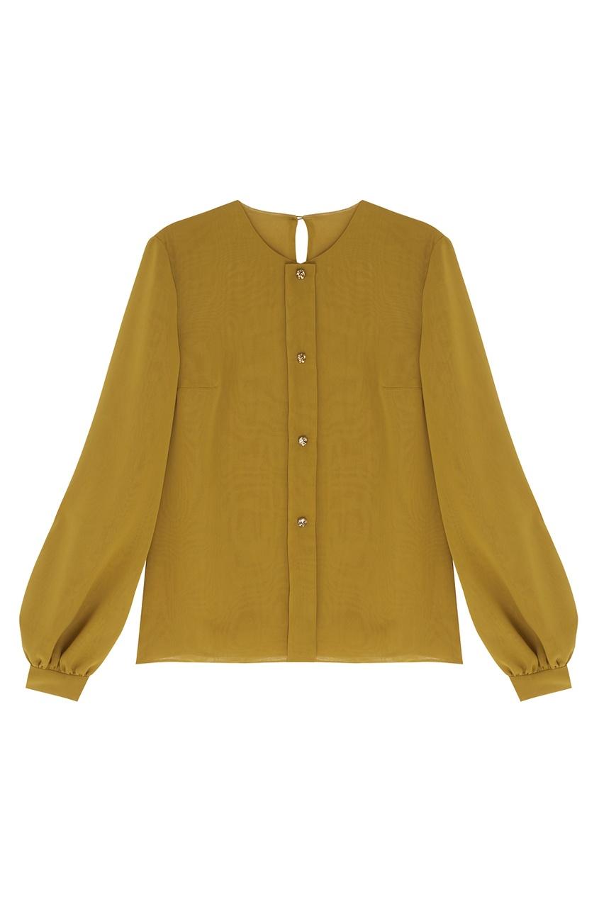 Arapkhanovi Шелковая блузка arapkhanovi жакет из шерсти и шелка