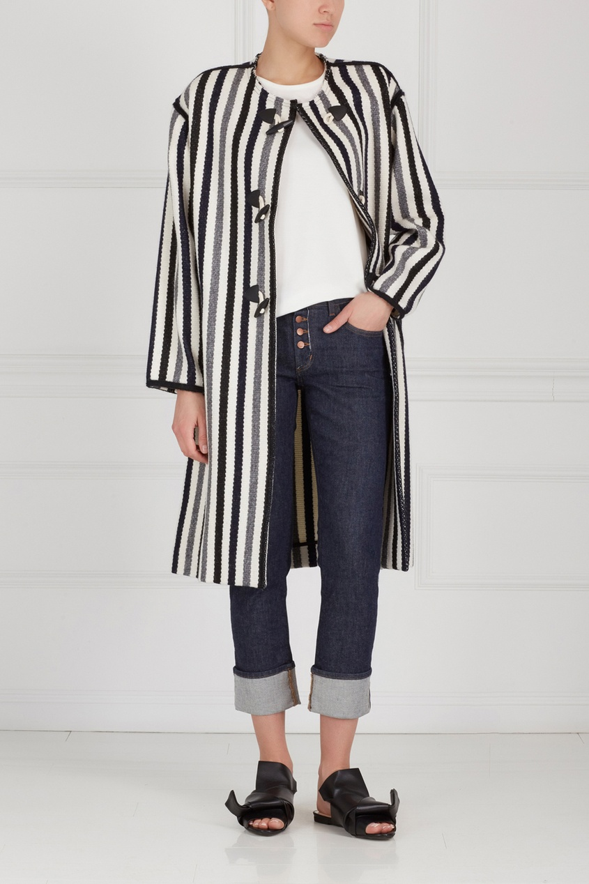 Isabel Marant Etoile Пальто из шерсти и хлопка