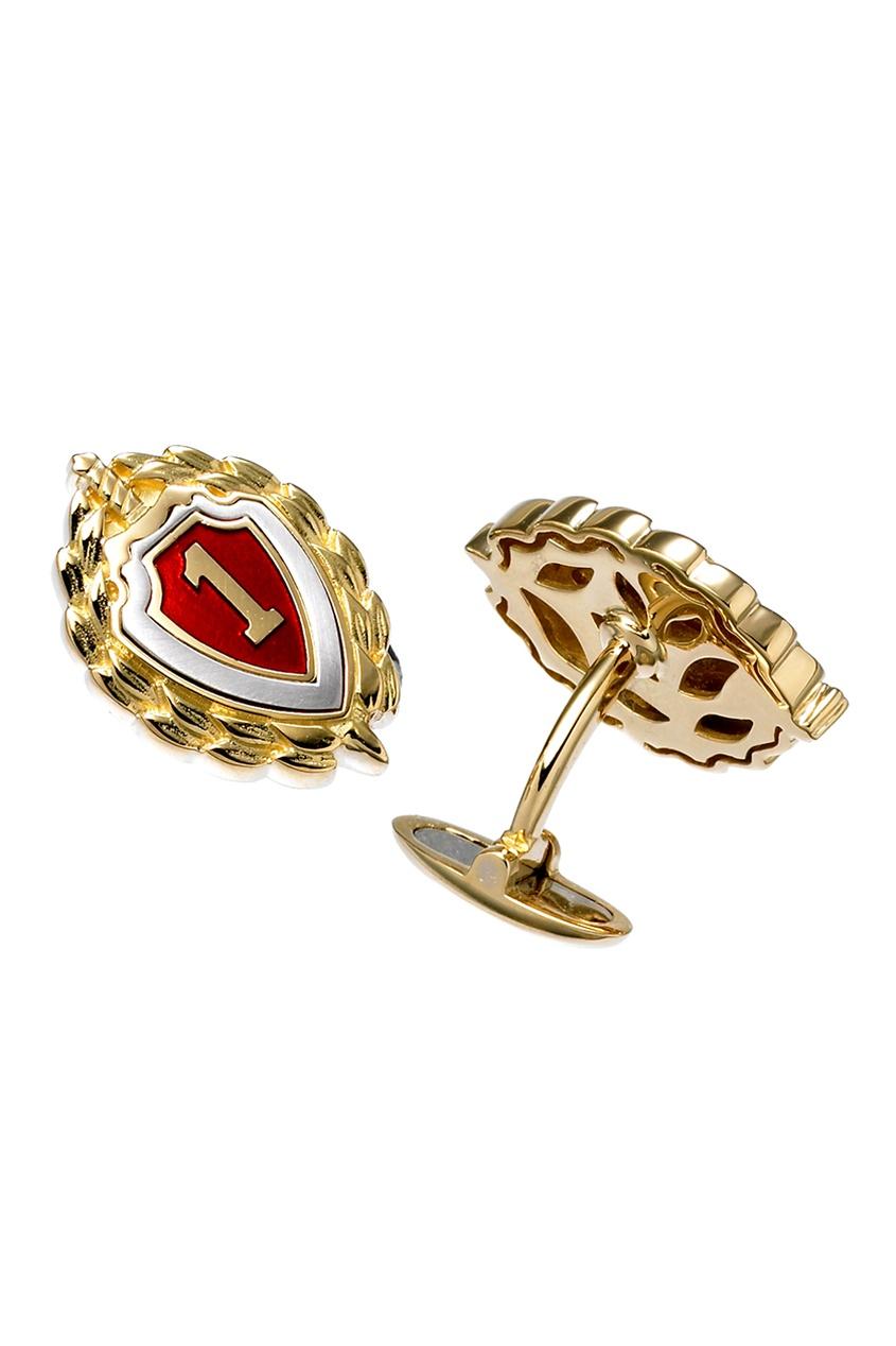 Gourji Серебряные запонки с позолотой «Знак 1 класс» gourji серебряные запонки с кварцем волосатиком gourji