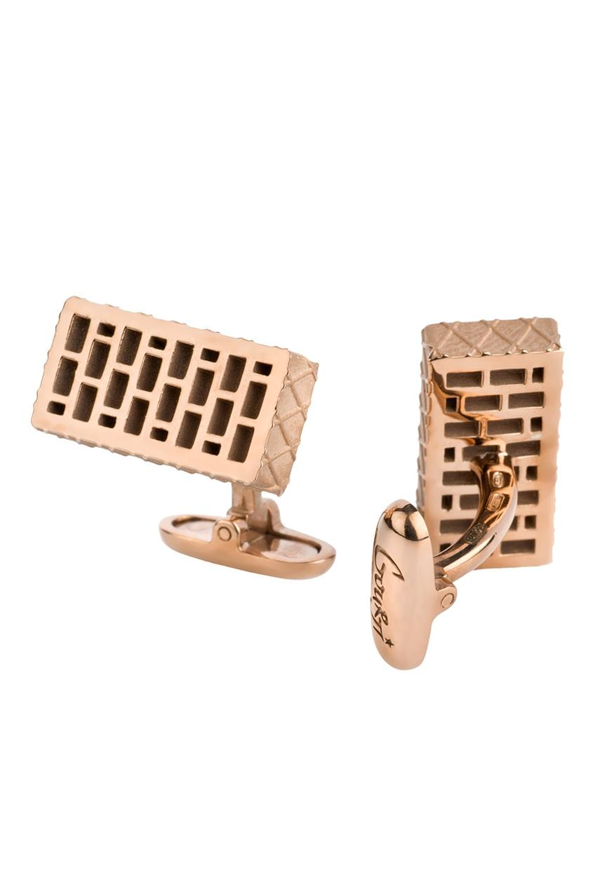 Gourji Позолоченные запонки из серебра «Кирпич» кирпич бутовый в саратове