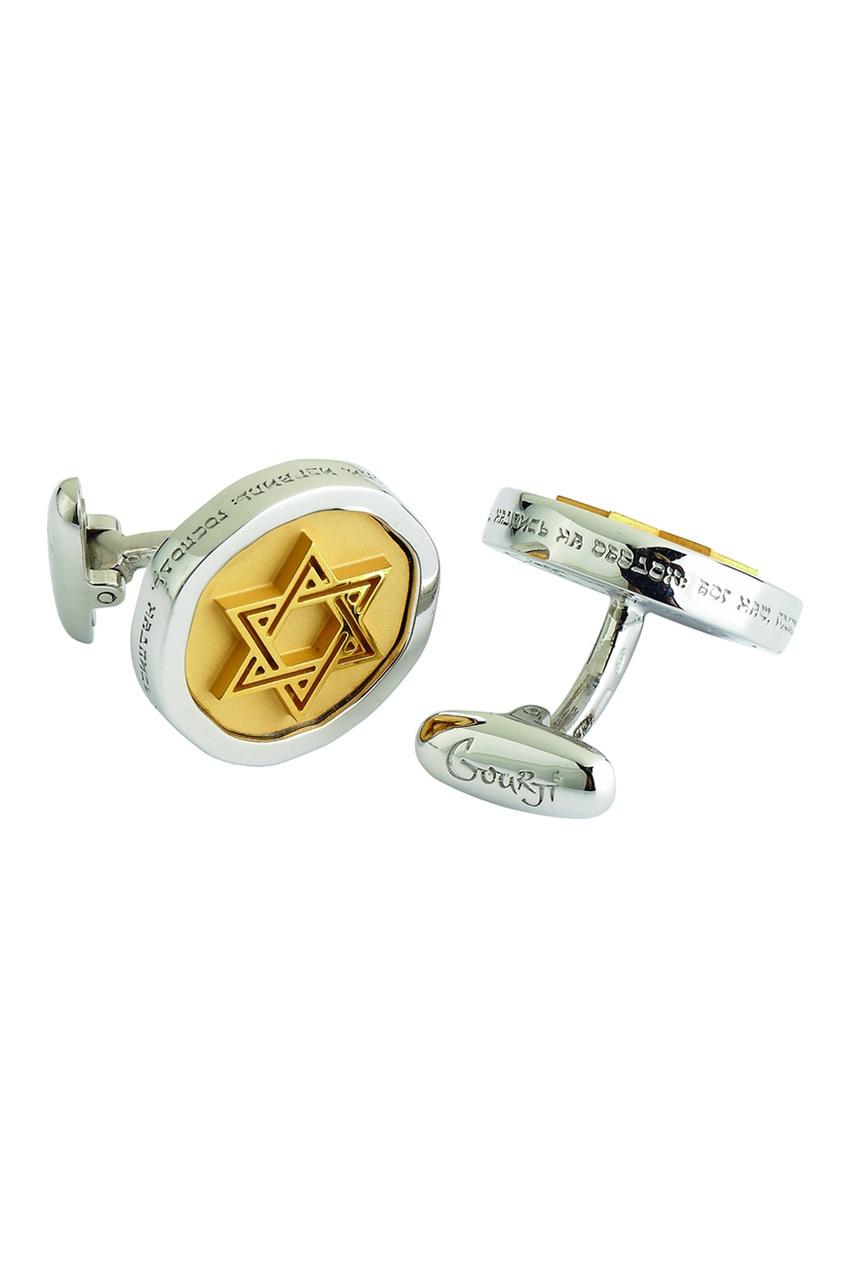 Gourji Серебряные запонки «12 колен израилевых» gourji серебряные запонки с кварцем волосатиком gourji