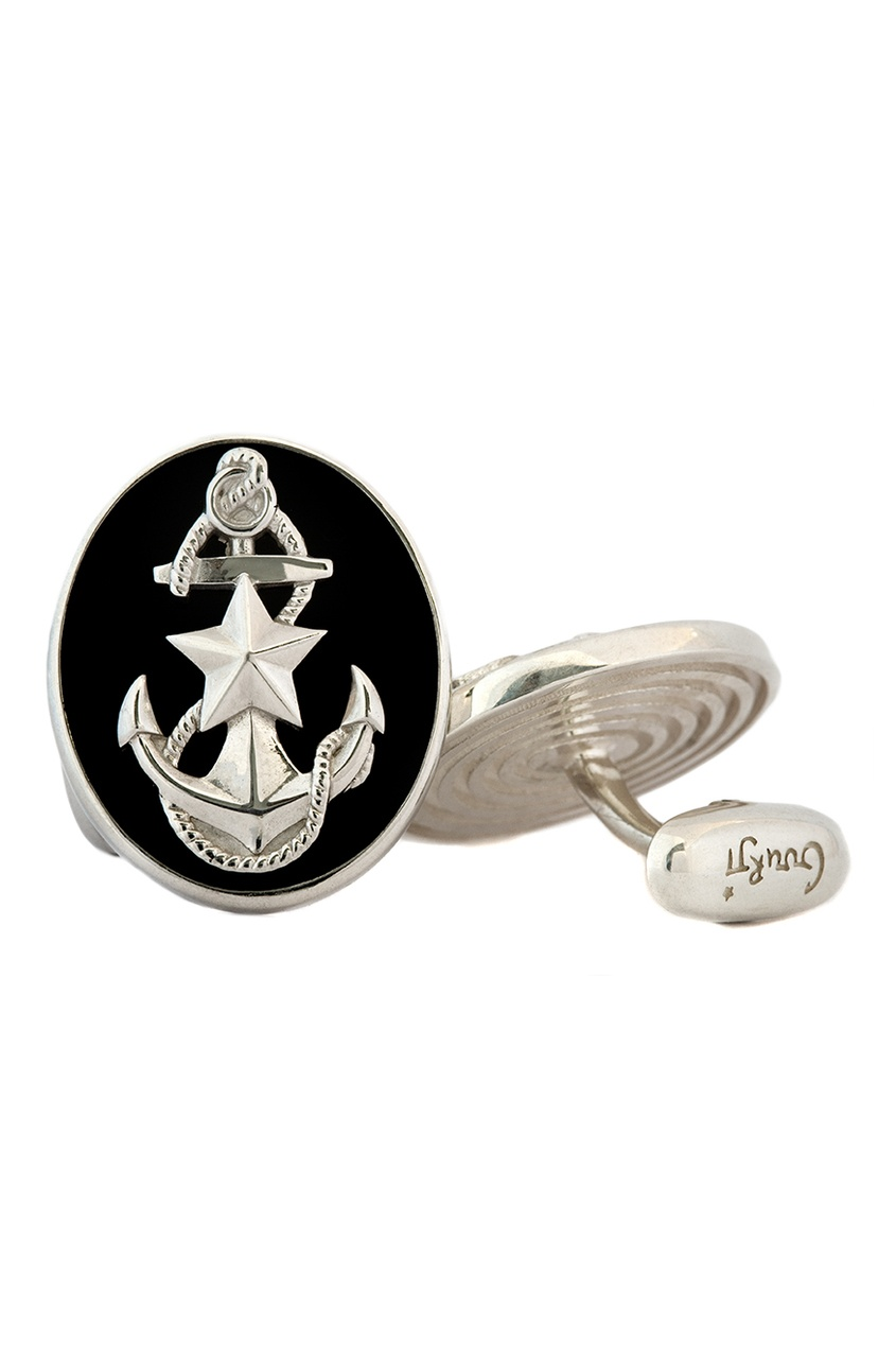 Серебряные запонки «Морпех»