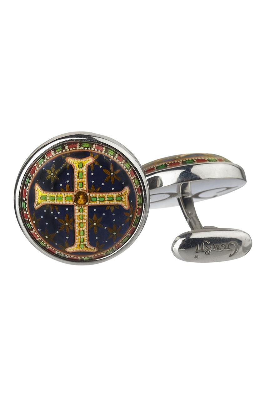 Серебряные запонки «Византийский крест»