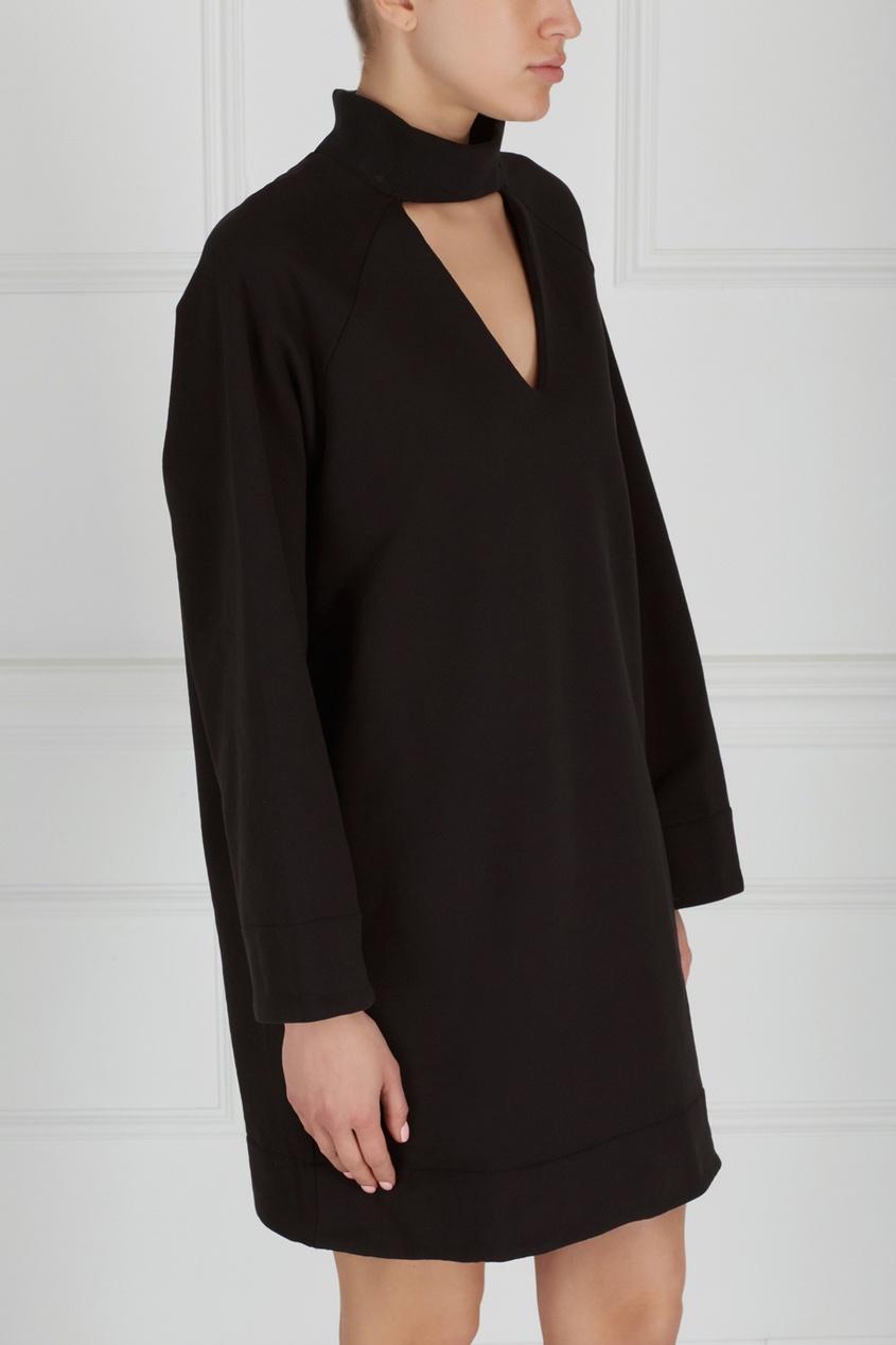 Однотонное платье Choker F-Dress