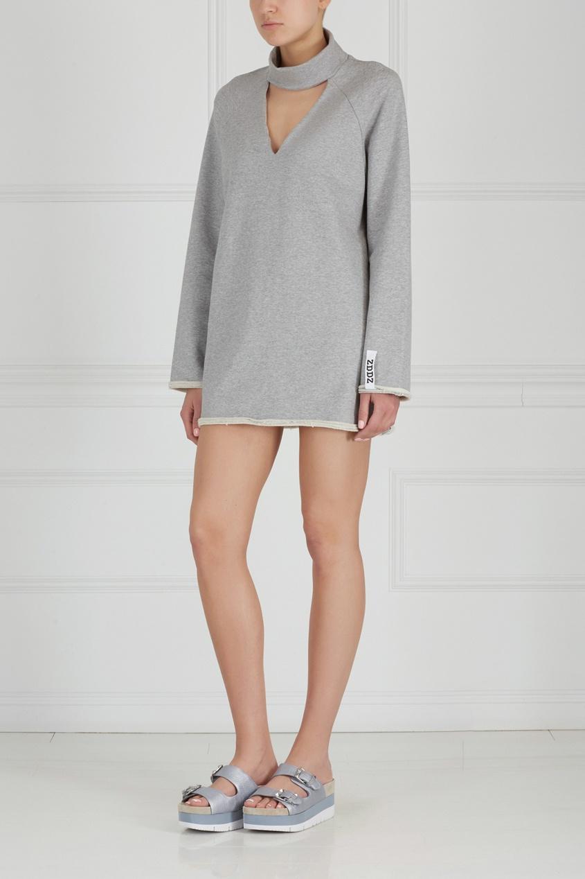 Однотонное платье Choker F-Sweatshirt Dress