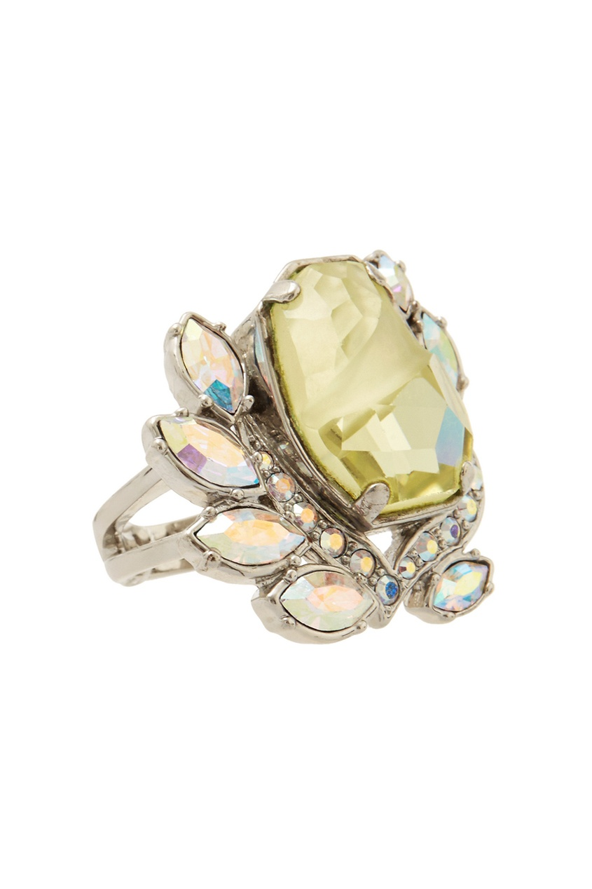 Фото 3 - Кольцо с кристаллом от Mawi зеленого цвета