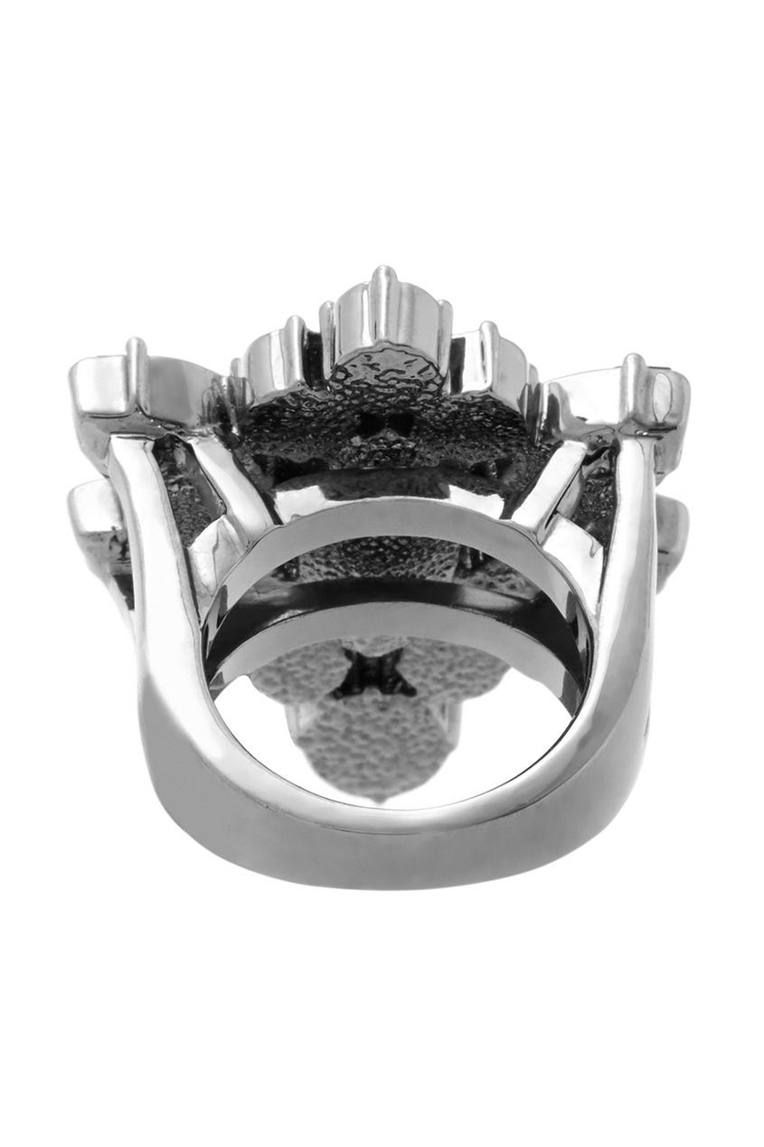 Фото 5 - Кольцо Rebel Romance с  кристаллами от Mawi зеленого цвета