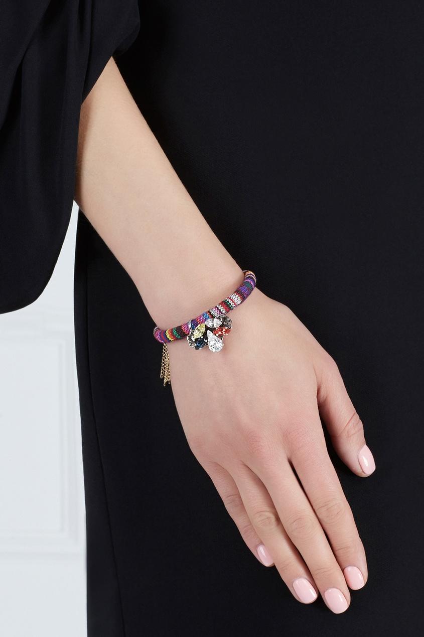 Фото - Браслет с кристаллами от Anton Heunis цвет multicolor