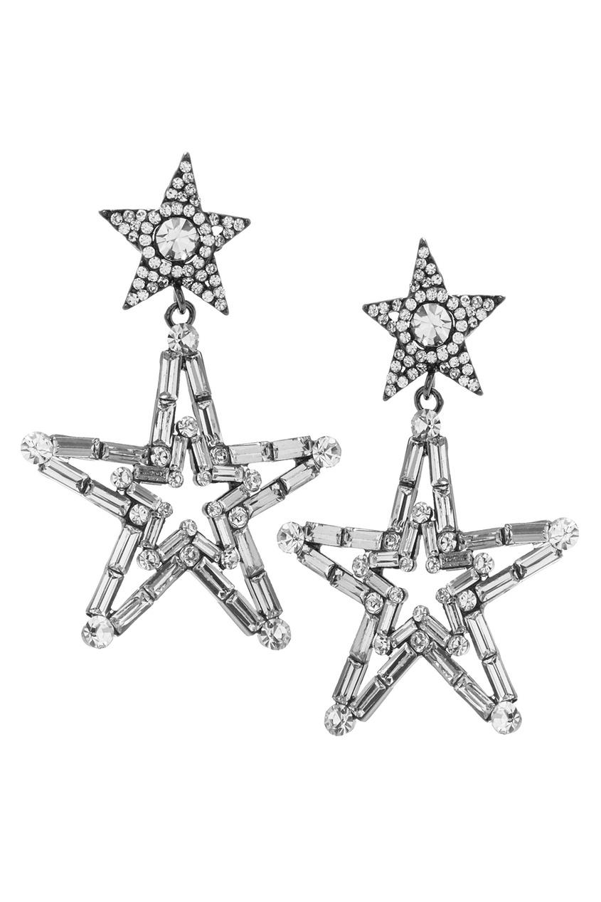 Herald Percy Серьги с кристаллами серьги herald percy асимметричные золотистые серьги трилистники с разноцветными кристаллами