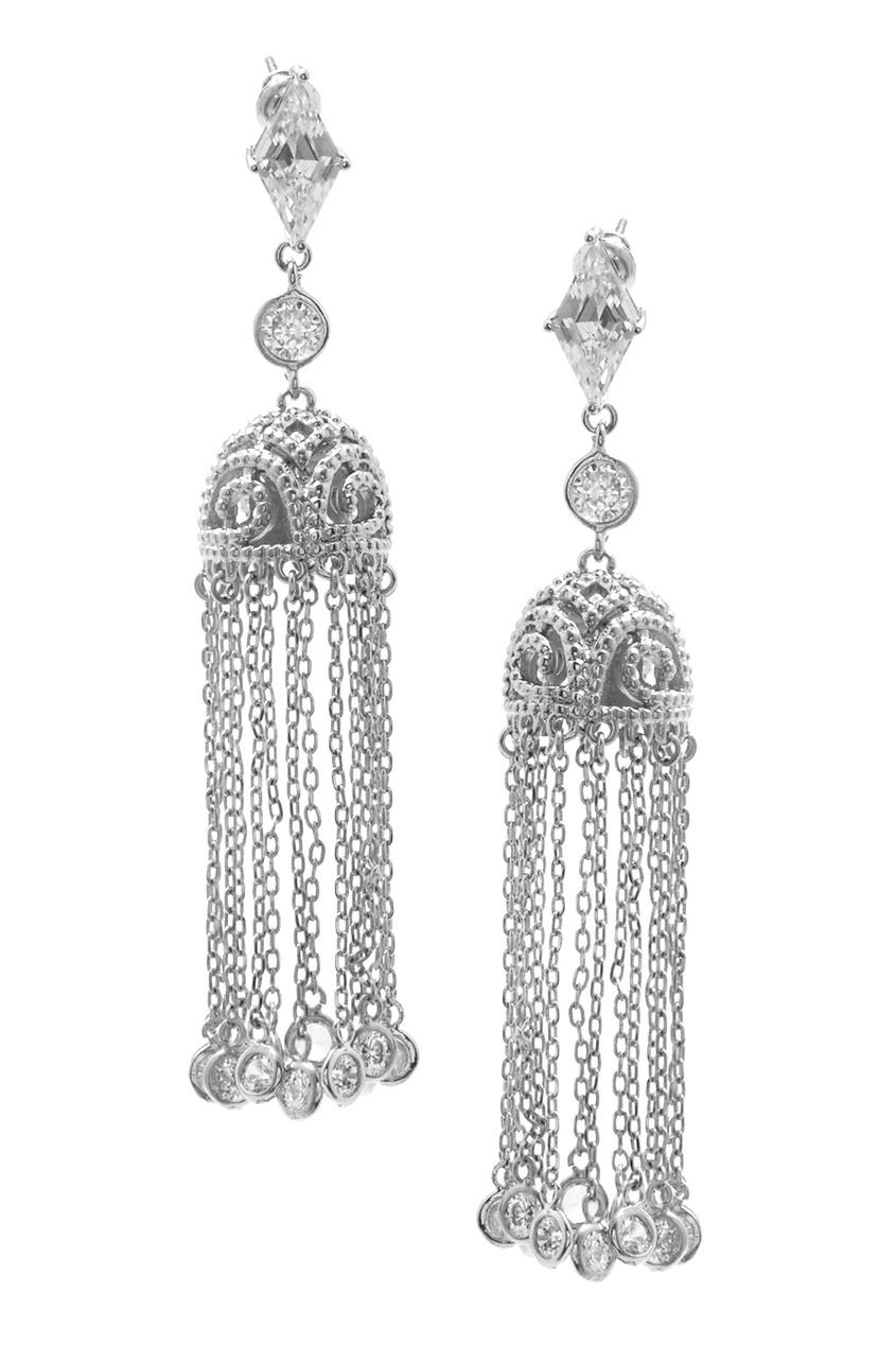 Herald Percy Серьги с кристаллами herald percy круглые серьги из бархата