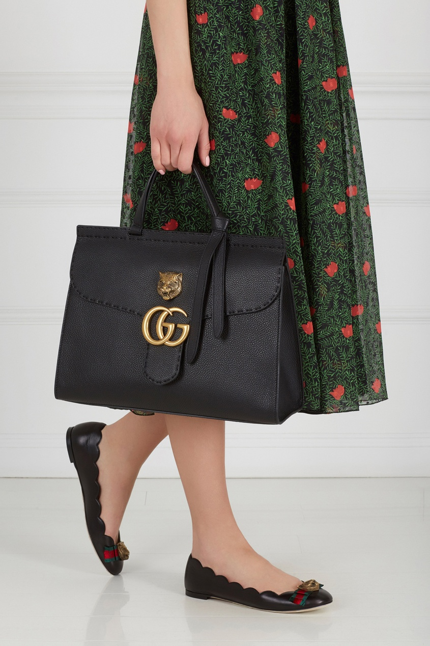 Gucci ������� ����� GG Marmont leather top handle bag