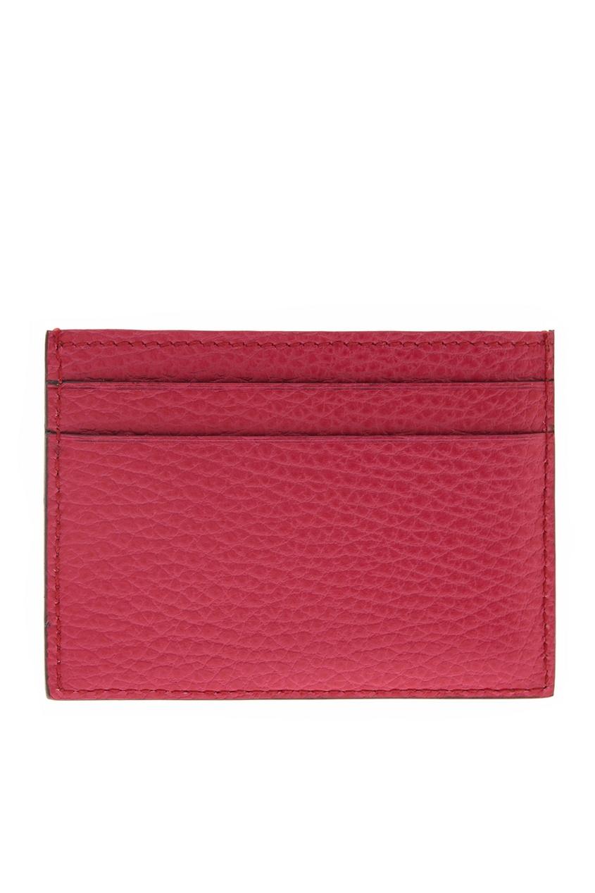 Фото 2 - Кожаная визитница от Gucci розового цвета