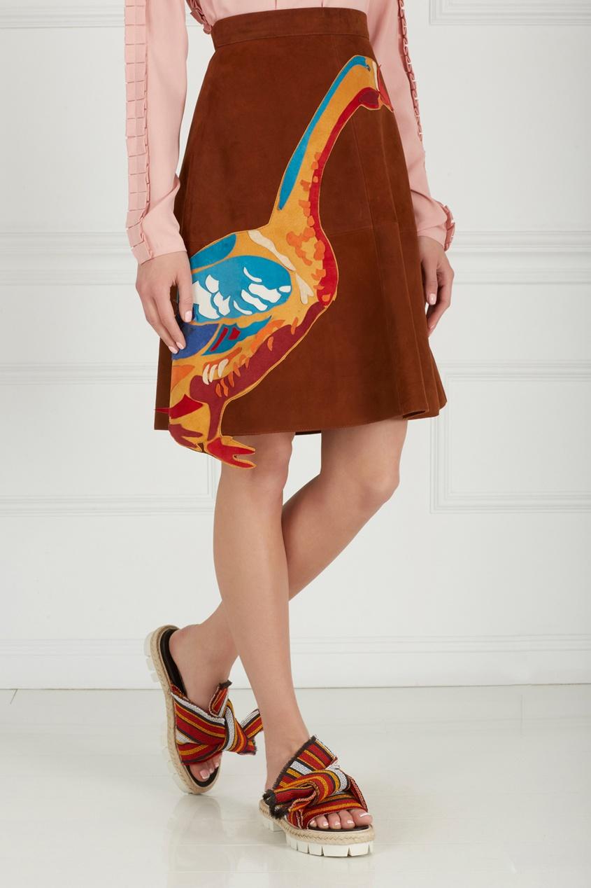 Фото 4 - Замшевая юбка от Alexander Arutyunov коричневого цвета