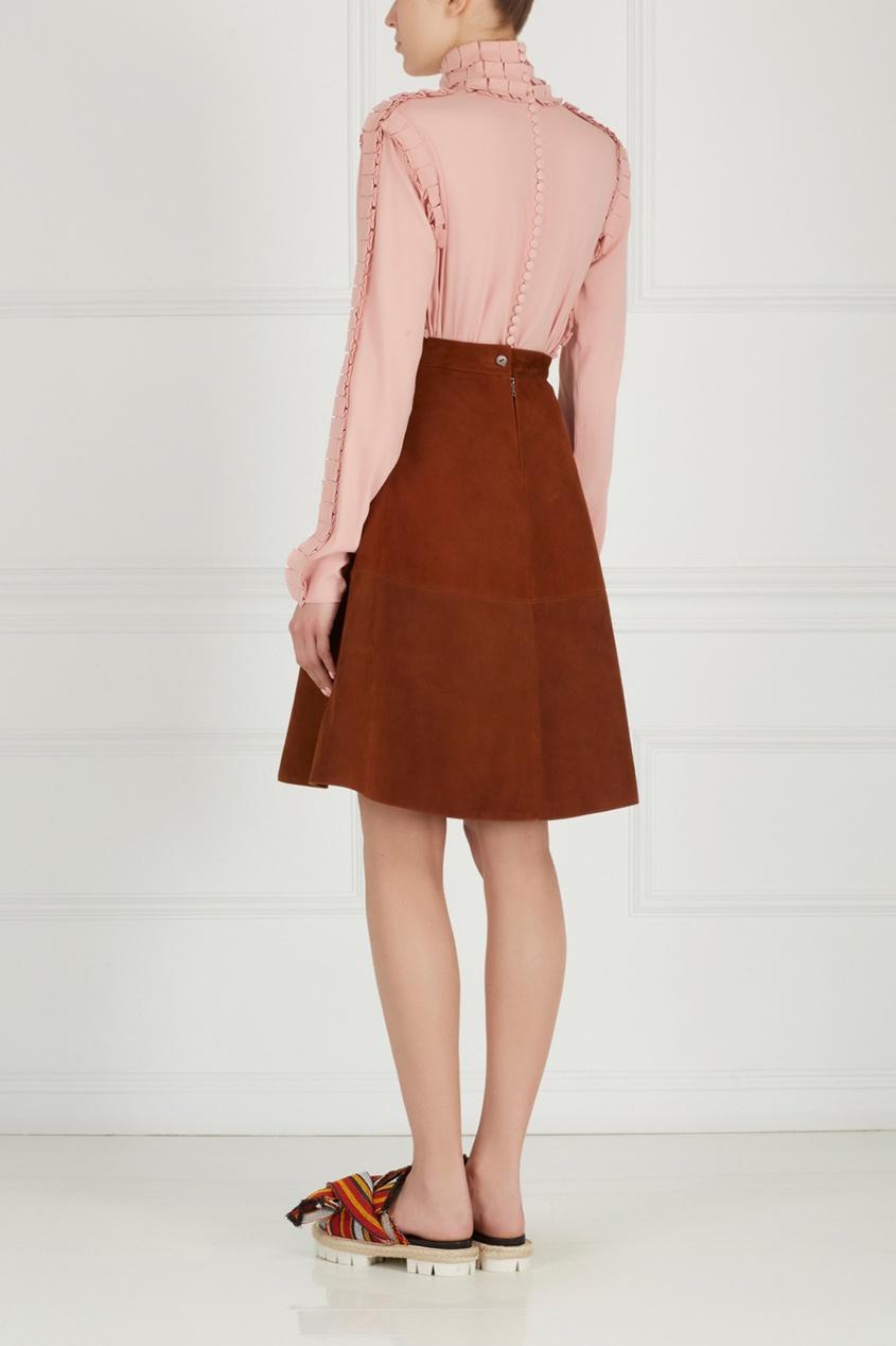 Фото 6 - Замшевая юбка от Alexander Arutyunov коричневого цвета