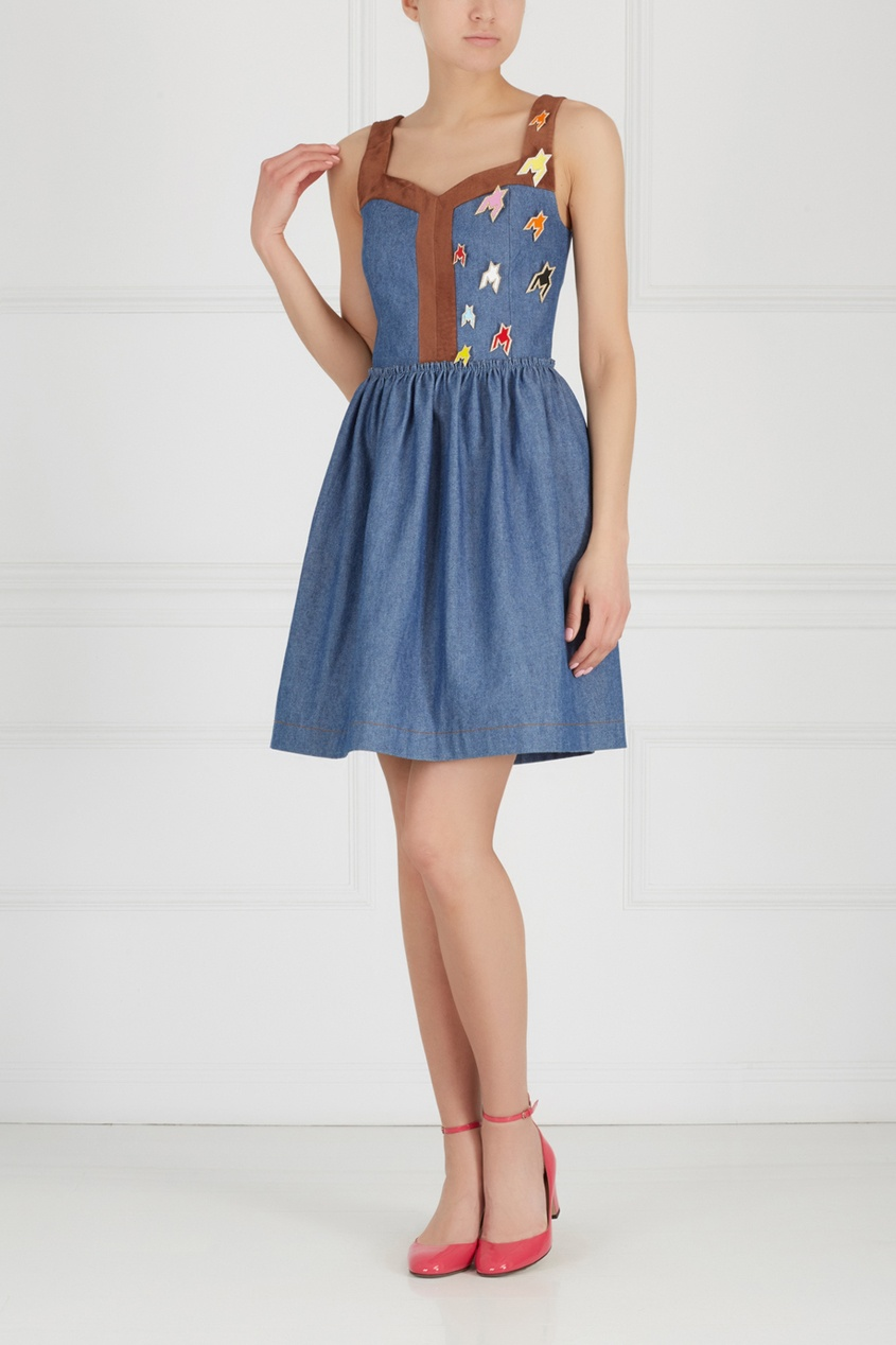 Фото 3 - Платье из денима от Alexander Arutyunov синего цвета