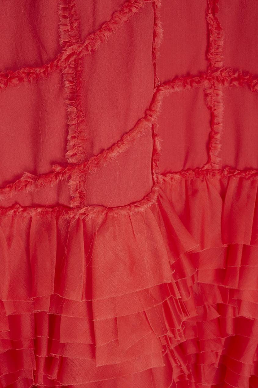 Фото 2 - Шелковое платье от Alexander Arutyunov красного цвета