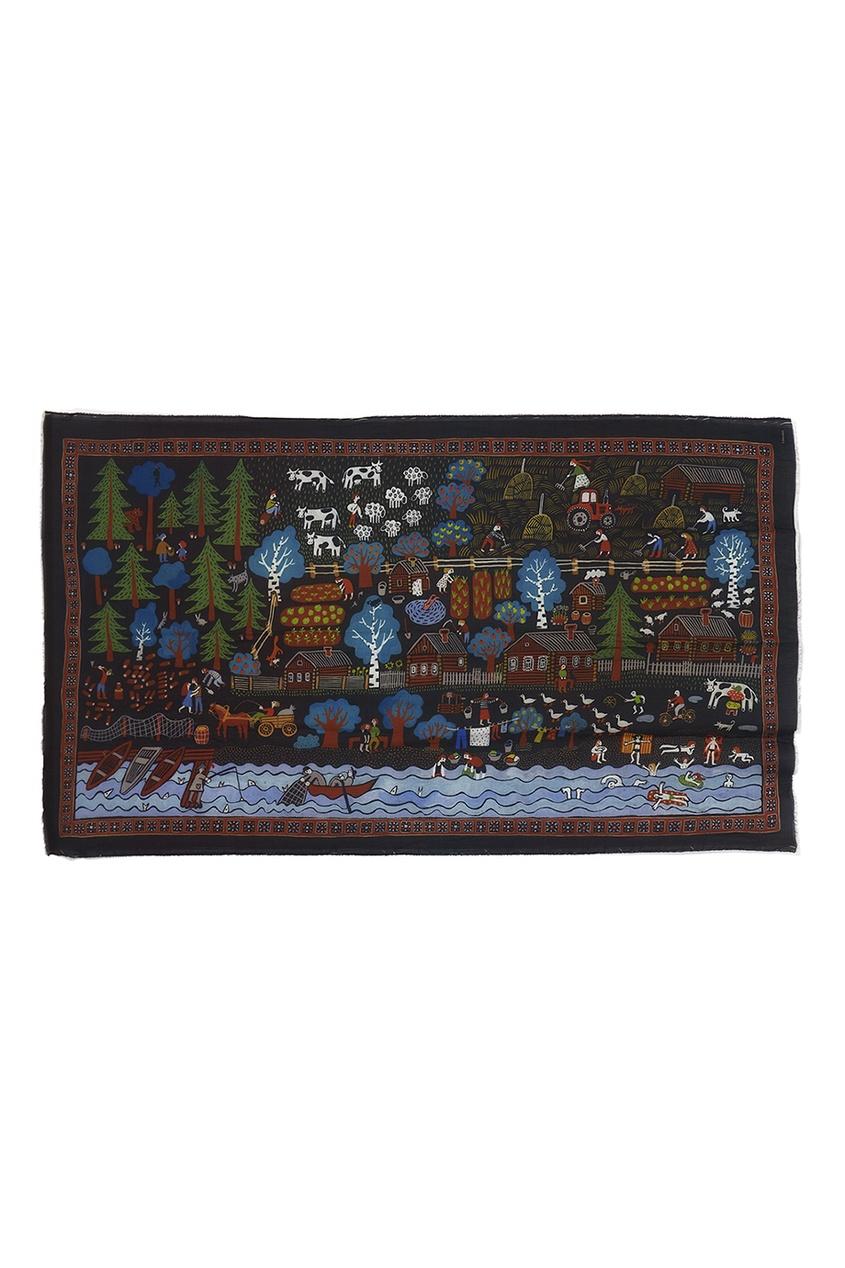 Кашемировая шаль «Деревня»