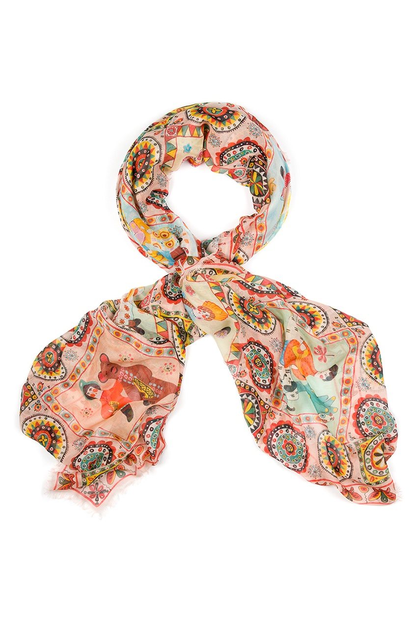 Кашемировый платок «Дымковские игрушки»