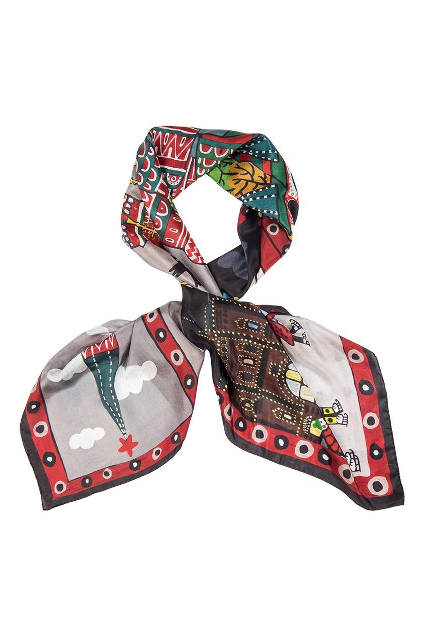 Шелковый платок «Красная площадь»