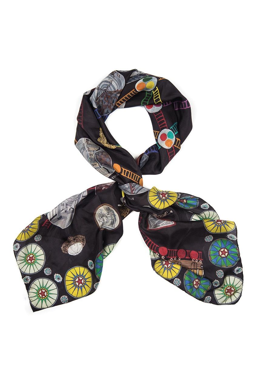 Шелковый платок «Метро»