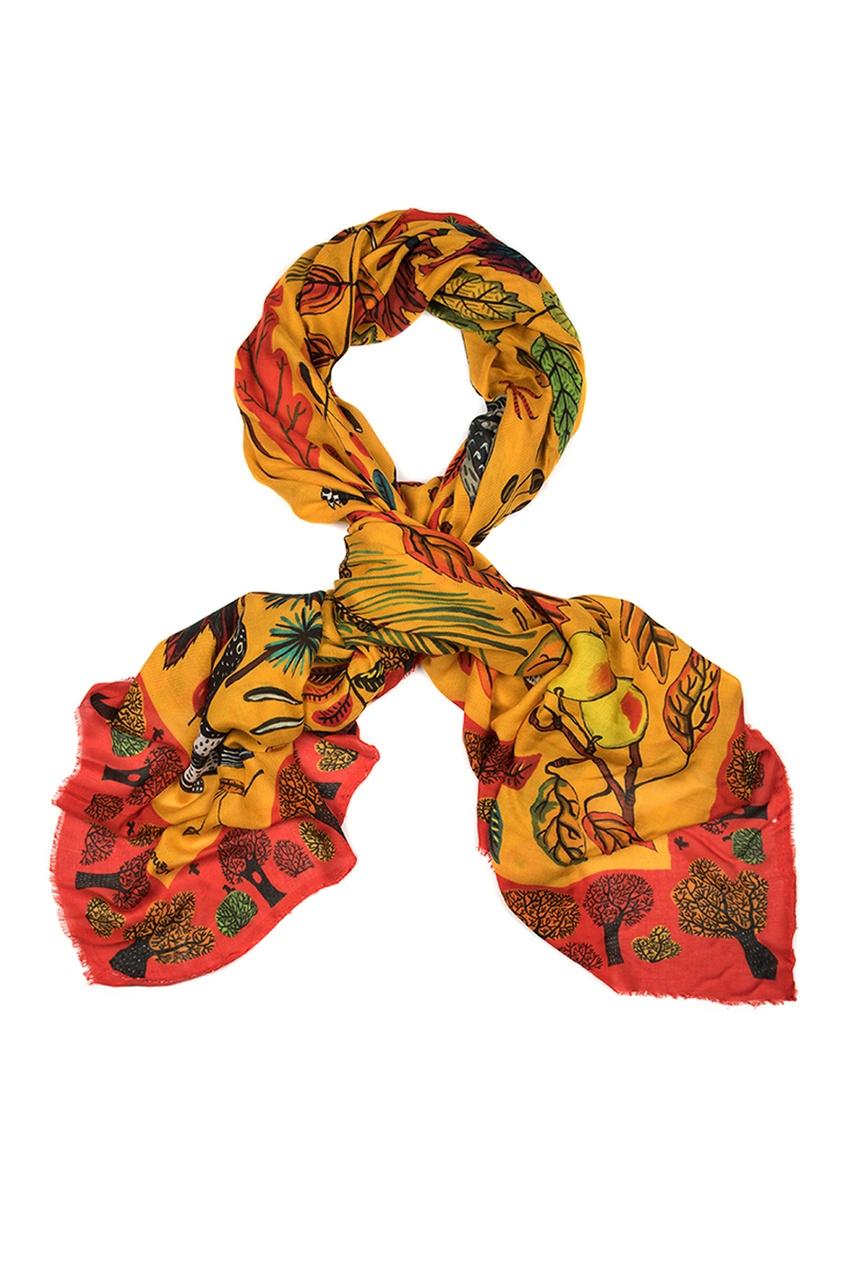 Кашемировый платок «Осенние листья»