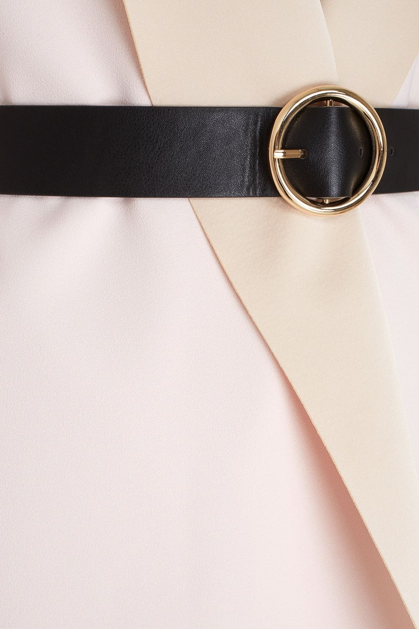 Фото 2 - Однотонное пальто от Edition 10 розового цвета