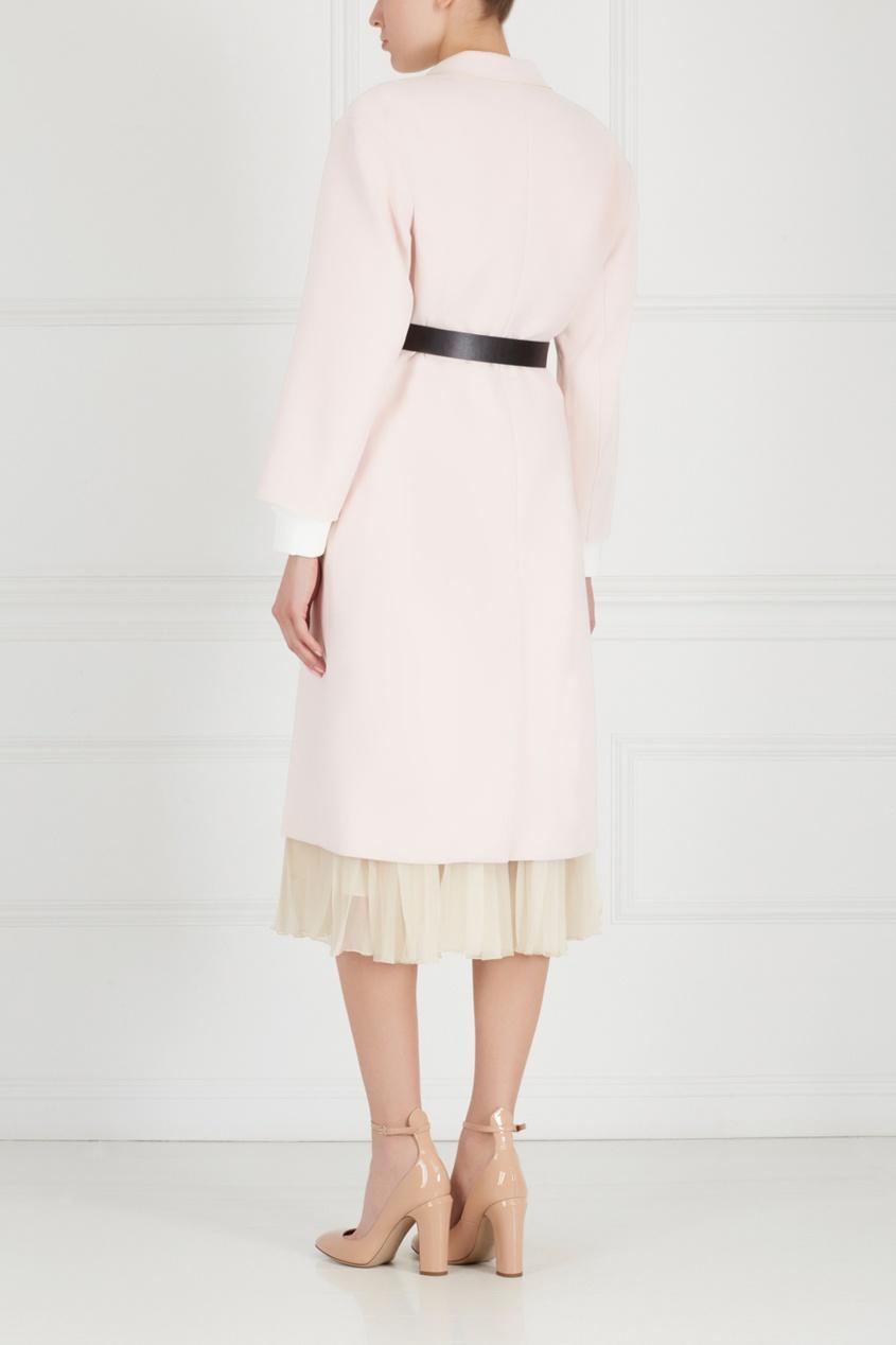 Фото 3 - Однотонное пальто от Edition 10 розового цвета