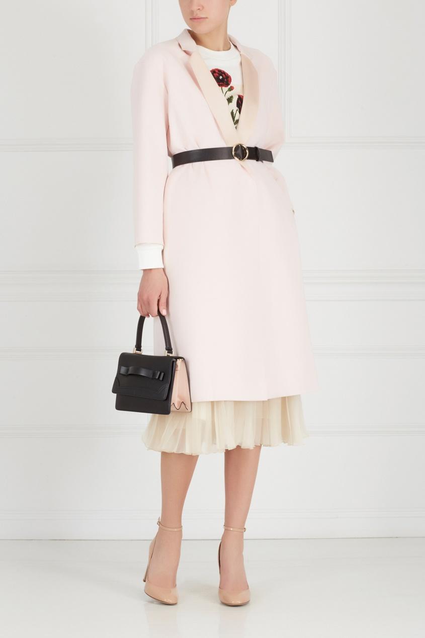 Фото 4 - Однотонное пальто от Edition 10 розового цвета