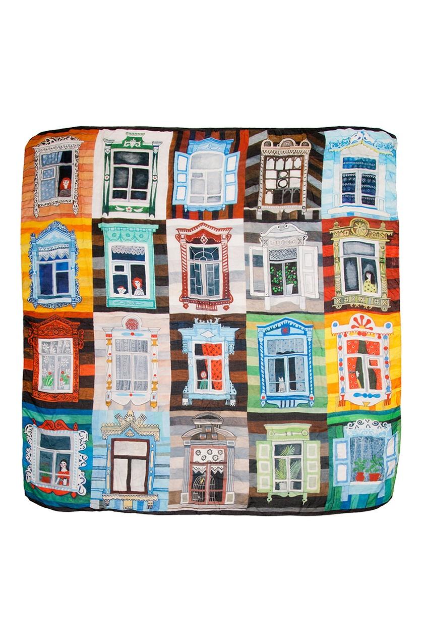 Кашемировый платок «Окна»