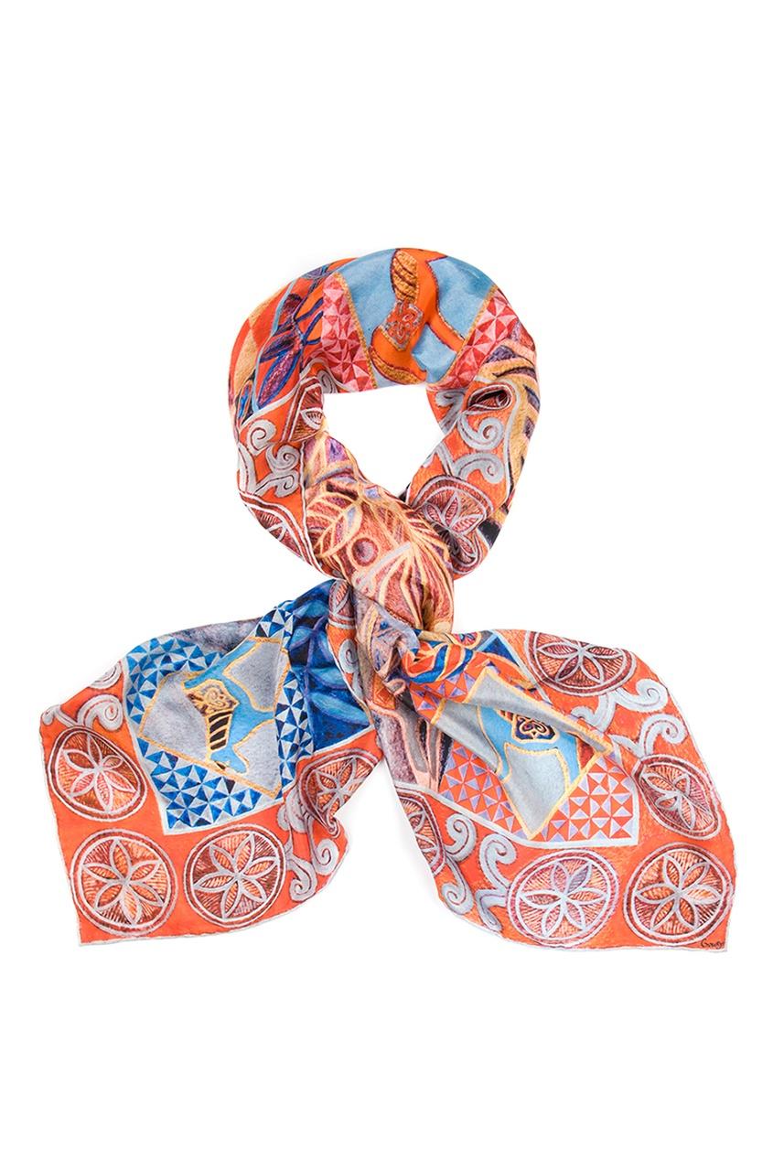 Шелковый платок «Северное сияние»