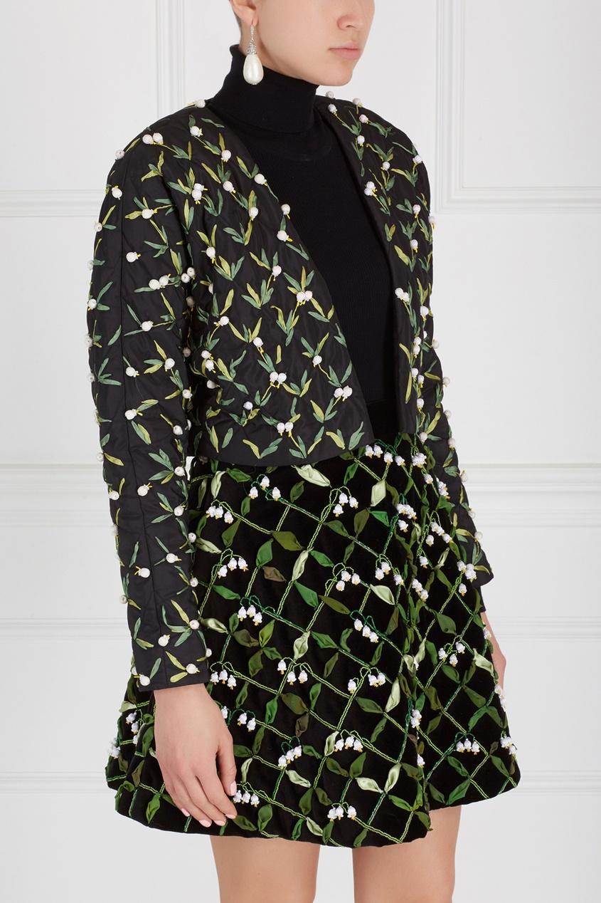 Фото 3 - Жакет с вышивкой от Alexander Arutyunov черного цвета