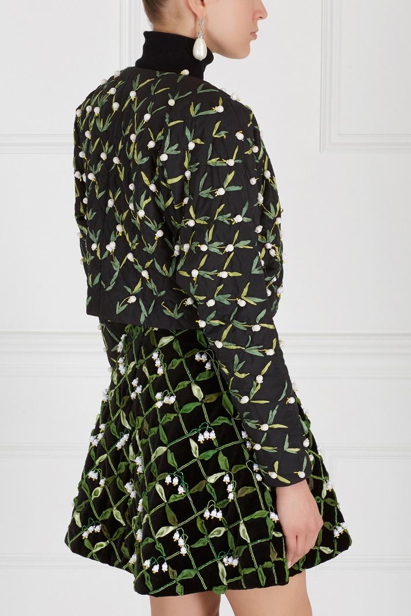 Фото 4 - Жакет с вышивкой от Alexander Arutyunov черного цвета
