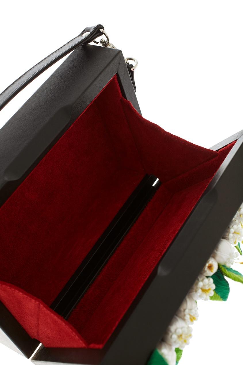 Фото 5 - Кожаная сумка от Alexander Arutyunov черного цвета