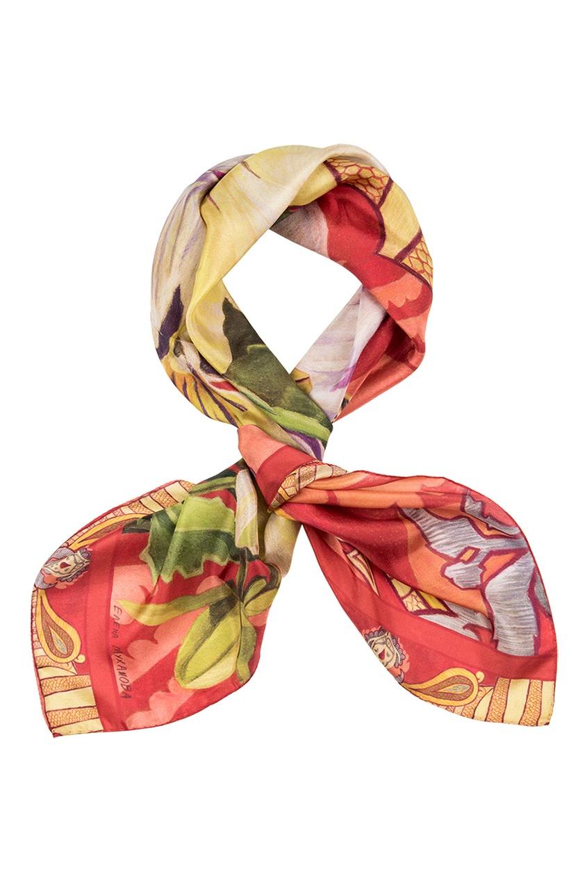 Шелковый платок «Анютины глазки»