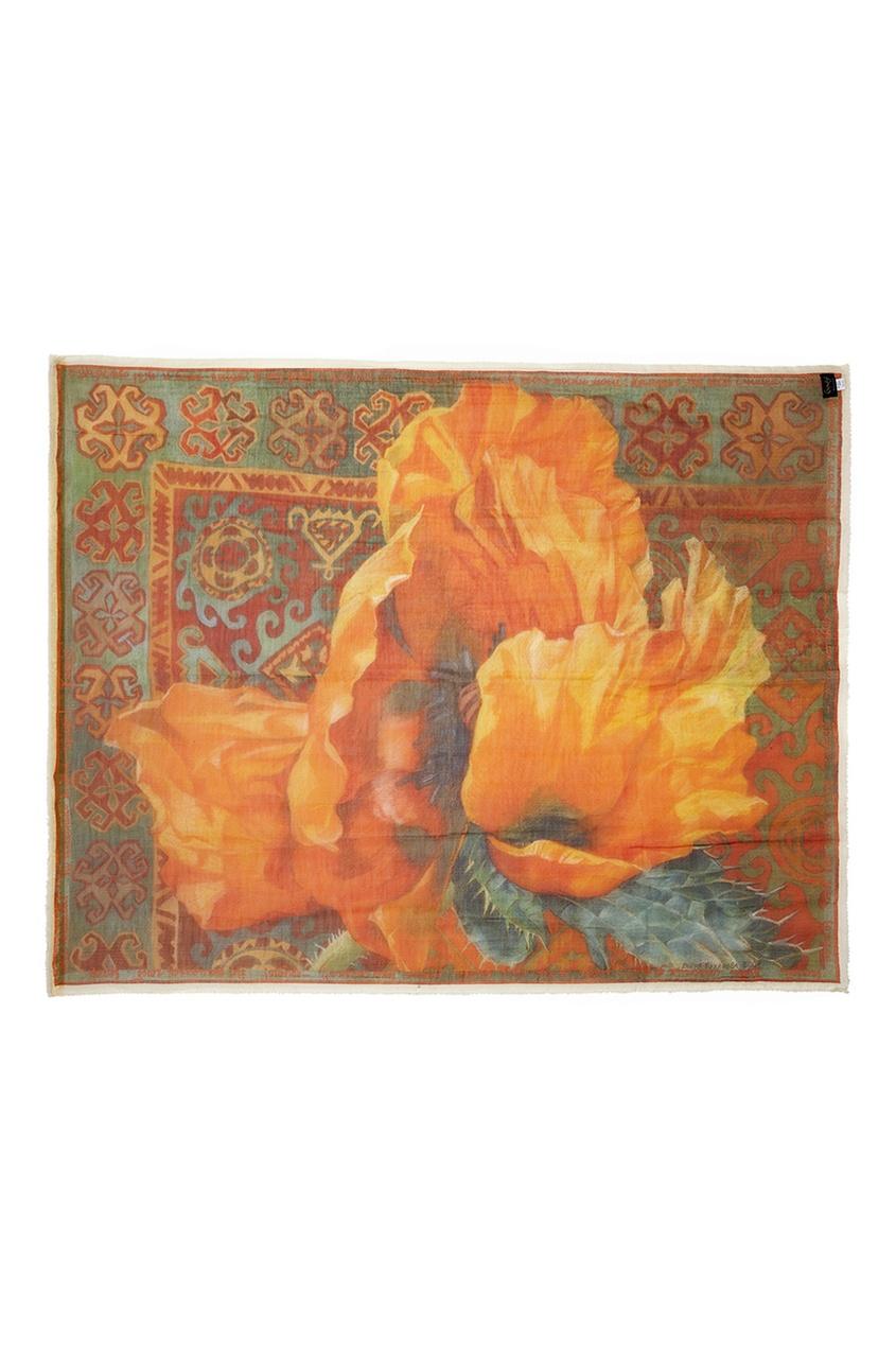 Кашемировая шаль «Маки»