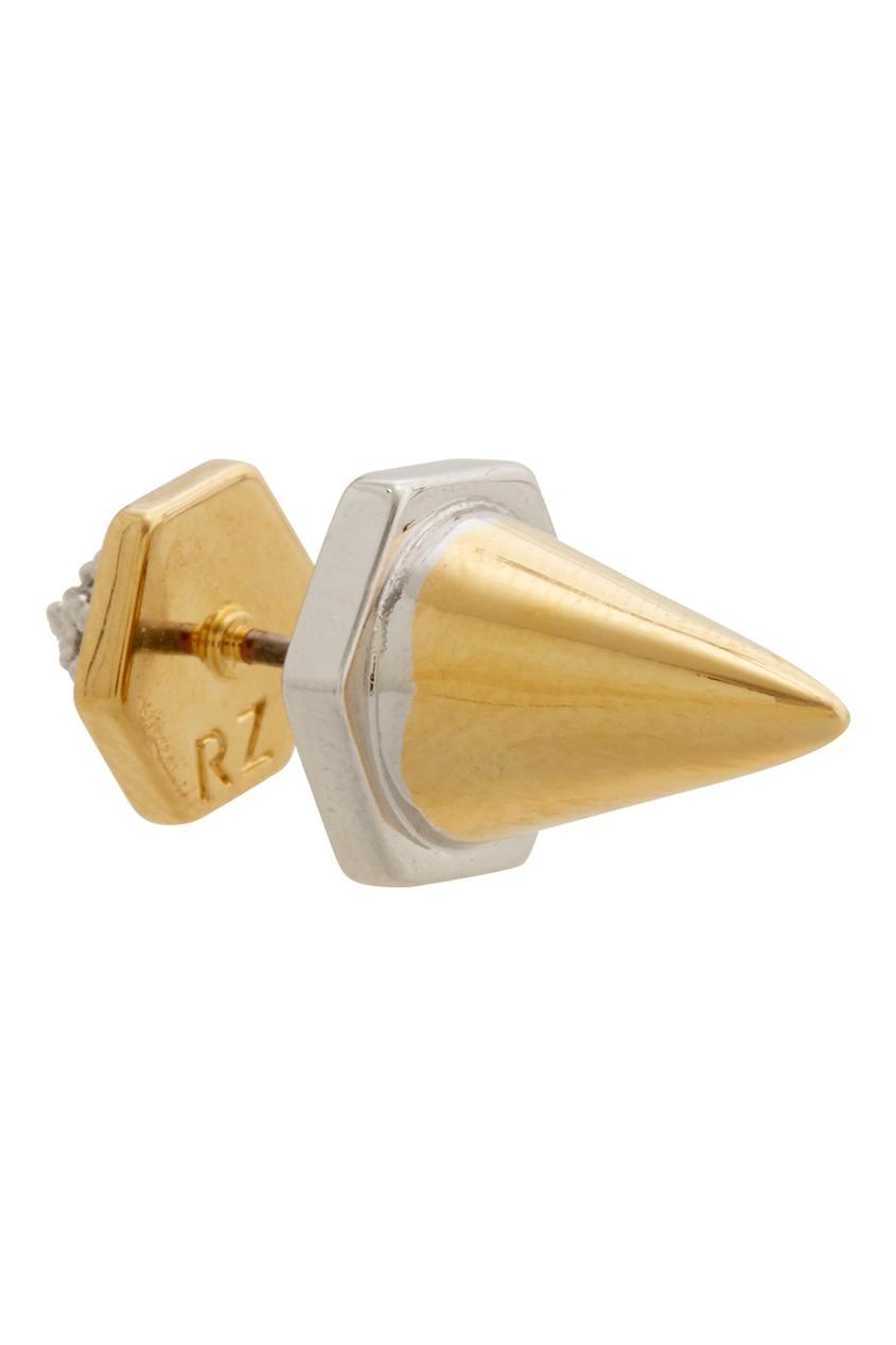 Фото 3 - Двусторонние серьги-пуссеты Nicola от Rachel Zoe золотого цвета