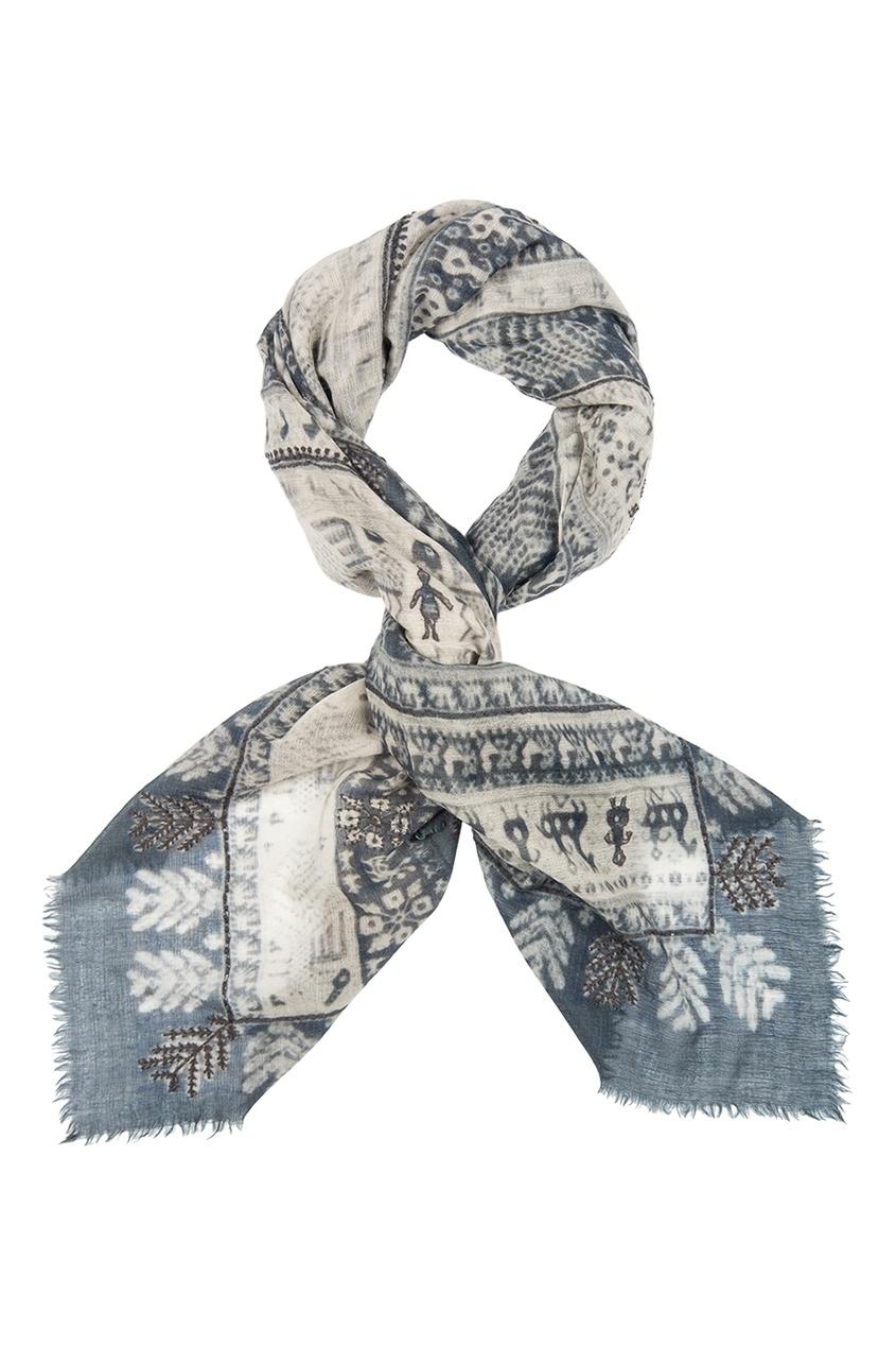 Шерстяной платок «Русский орнамент»