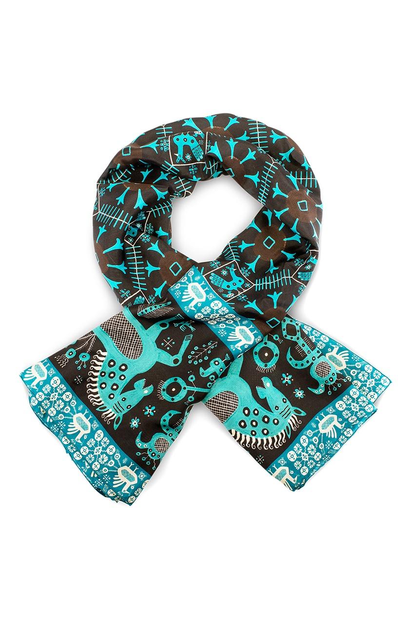 Шелковый платок «Русский орнамент»