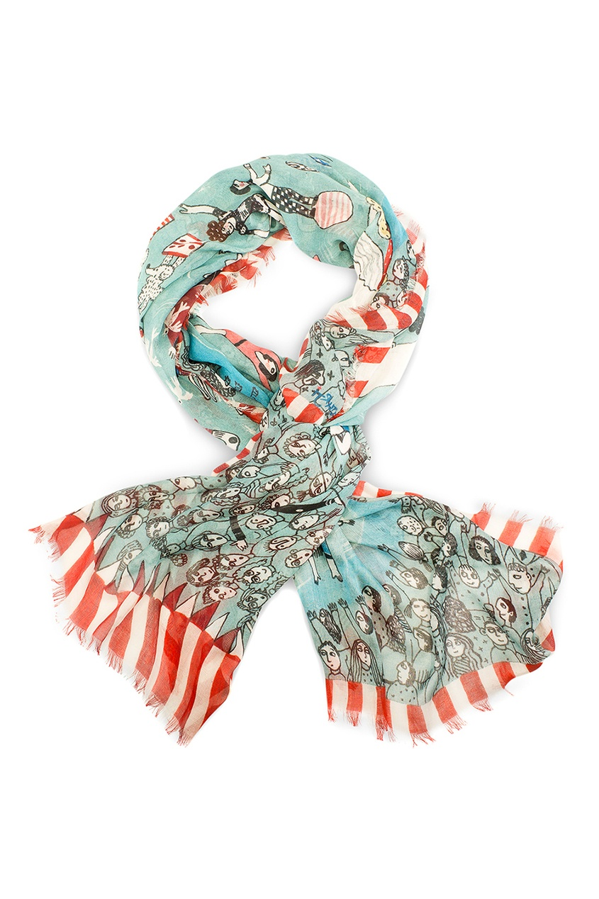 Кашемировый платок «Цирк»