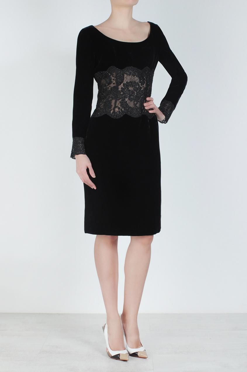 Emanuel Ungaro Vintage Бархатное платье (80-е)
