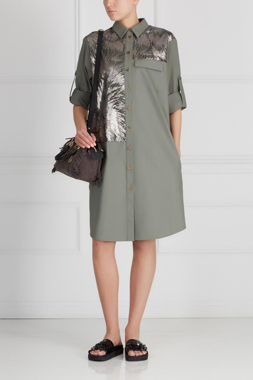 Фото 3 - Хлопковое платье от A La Russe зеленого цвета