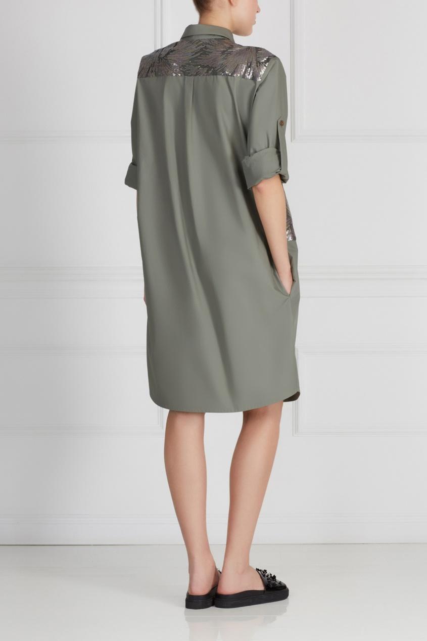 Фото 4 - Хлопковое платье от A La Russe зеленого цвета