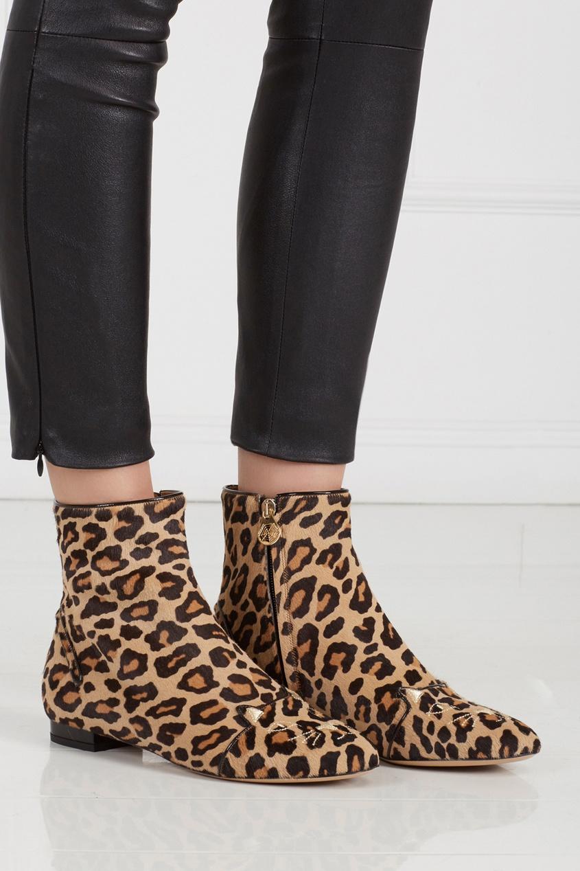 Ботинки из меха пони Puss in Boots