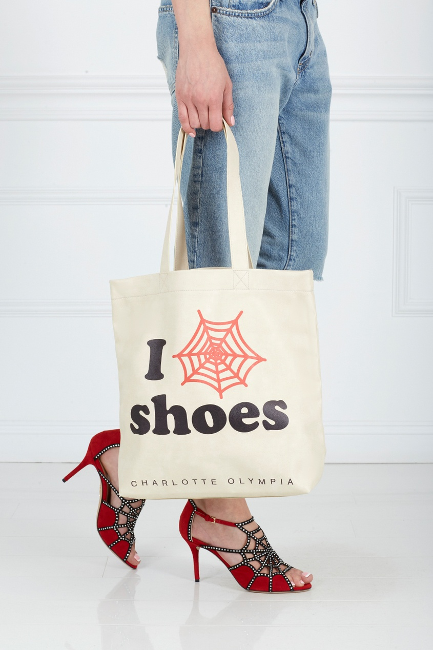 Charlotte Olympia Сумка из замши и хлопка I Love CO Shoes
