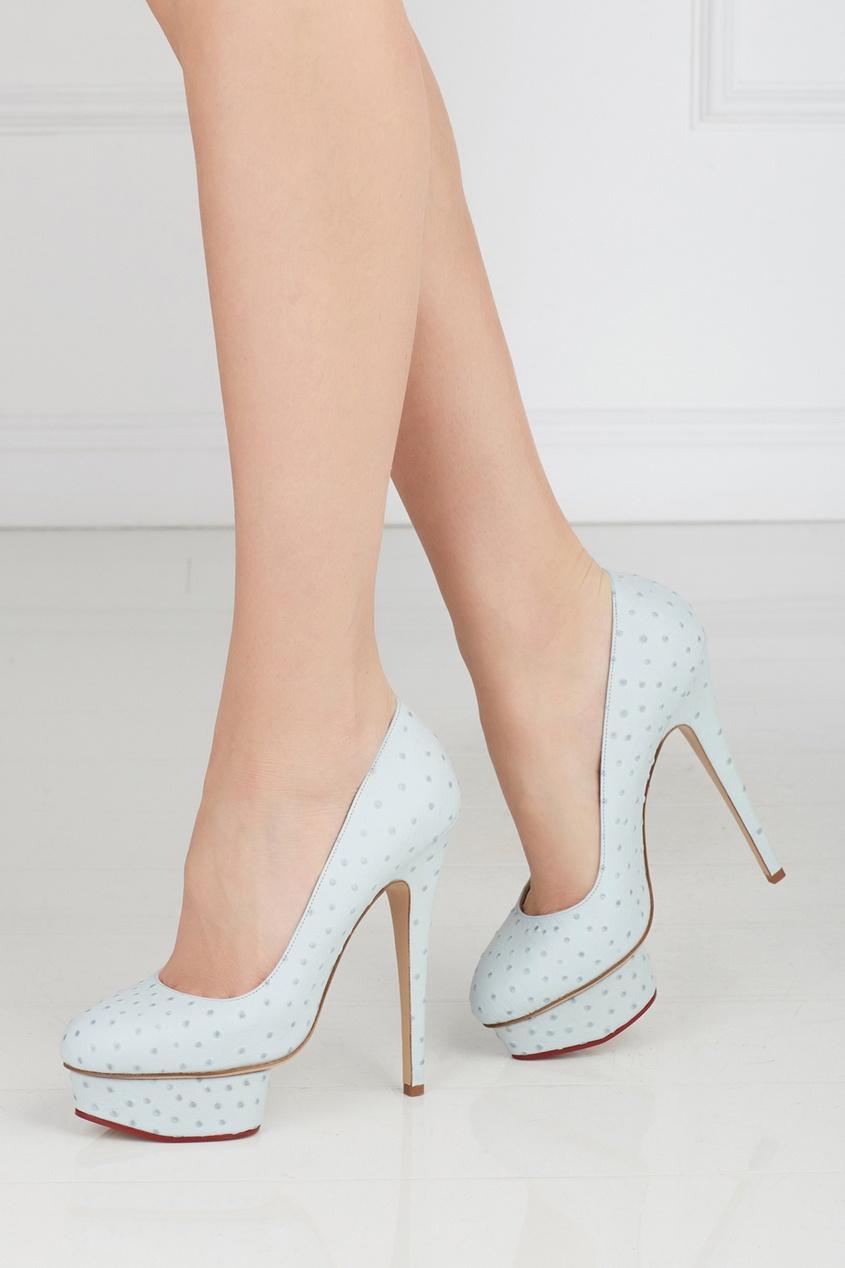 Туфли из страусиной кожи Dolly